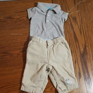 Carter's 3m bodysuit and corduroy pants